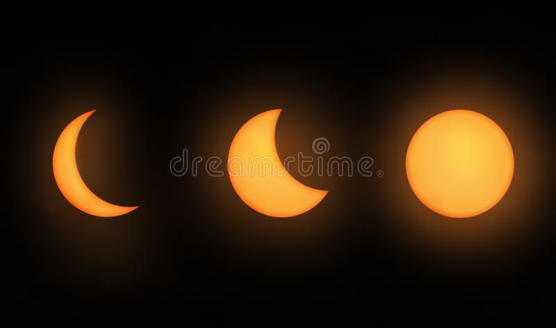 Three Moon phases royalty free stock image
