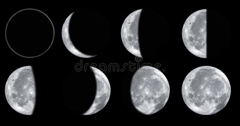 Moon phases stock photos