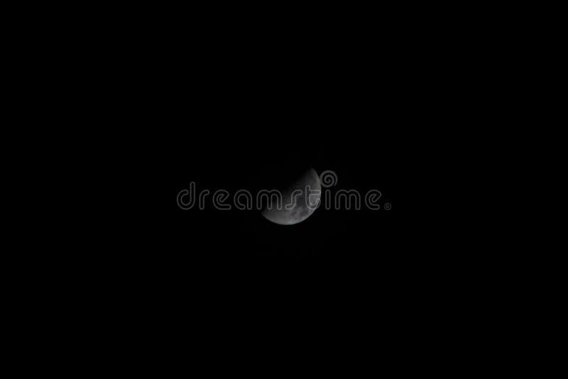 Moon in Pontevedra royalty free stock images
