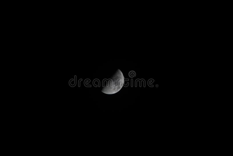 Moon in Pontevedra royalty free stock photo