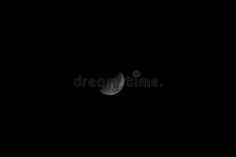 Moon in Pontevedra stock images