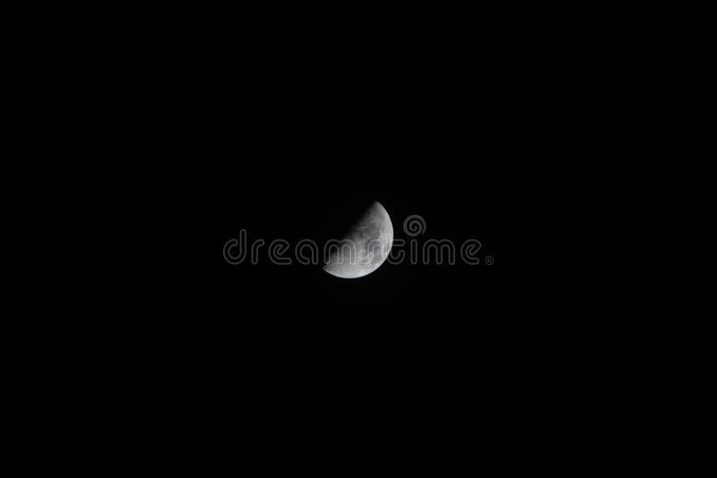 Moon in Pontevedra stock image