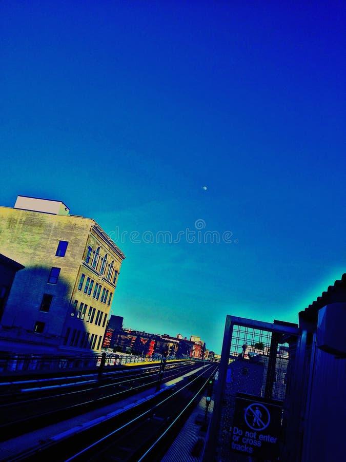 Moon& x27; princípio de s fotografia de stock royalty free