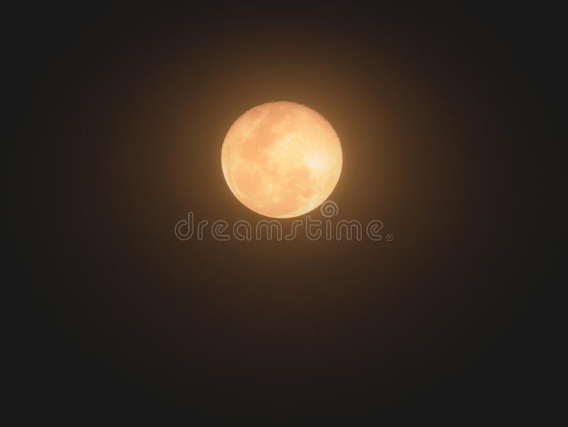The Moon is Radiant Yellow stock image