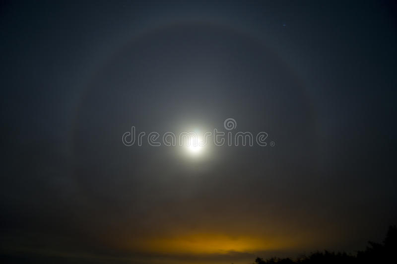 Moon rainbow royalty free stock images