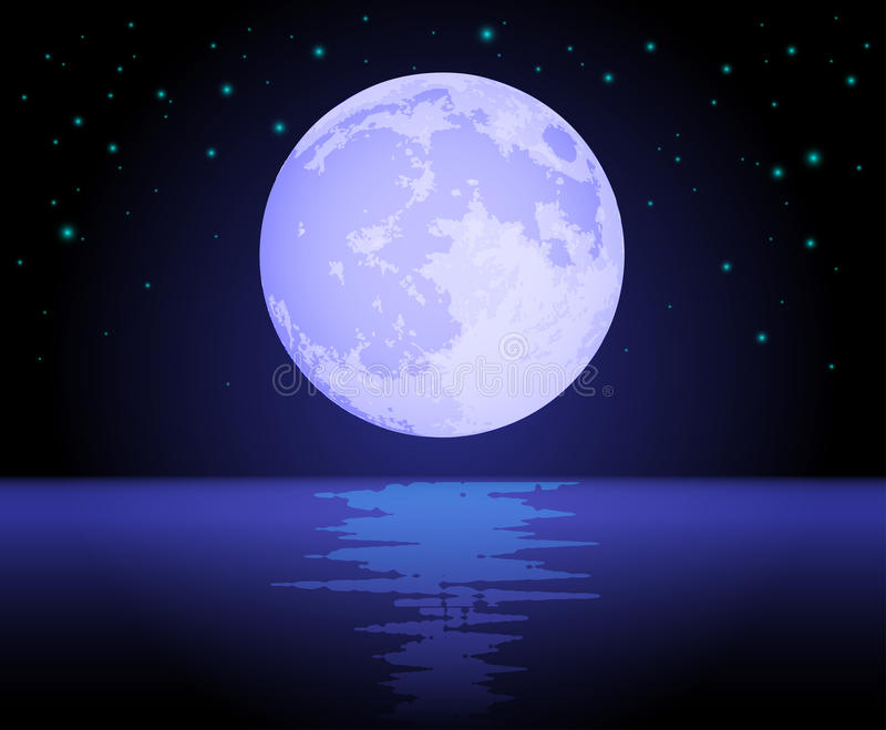 Download Moon Reflecting Over The Ocean Stock Vector - Image: 20977715
