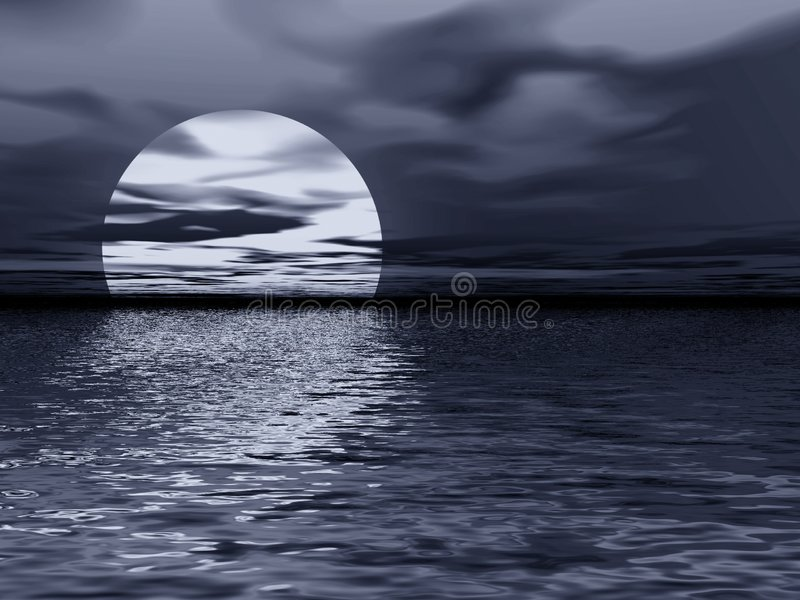 Download Moon reflection stock illustration. Image of horror, graphic - 1237553