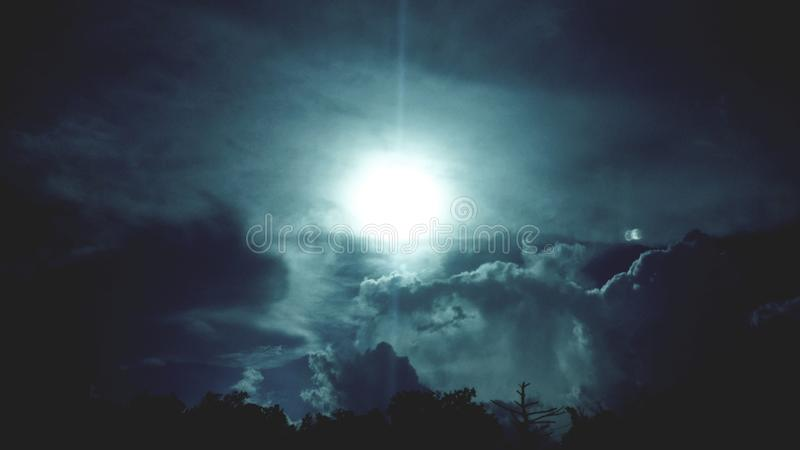 Moon Rise. At night royalty free stock photo