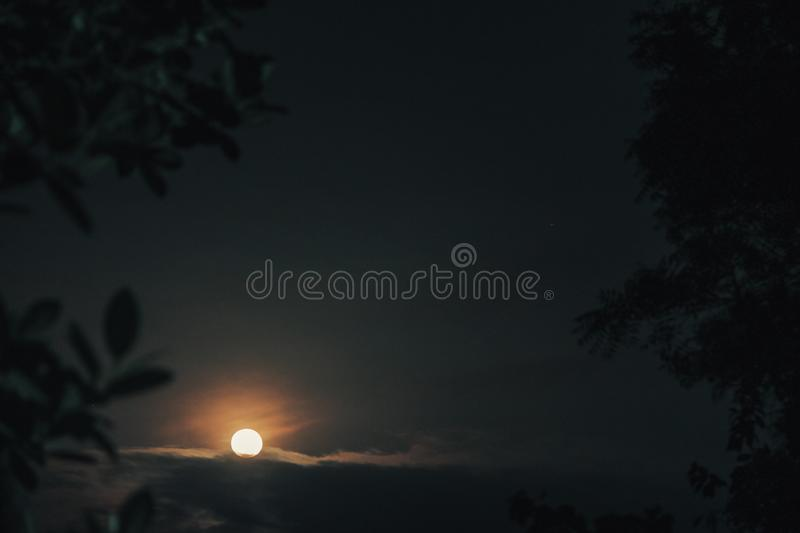 Moon rise photography royalty free stock photos