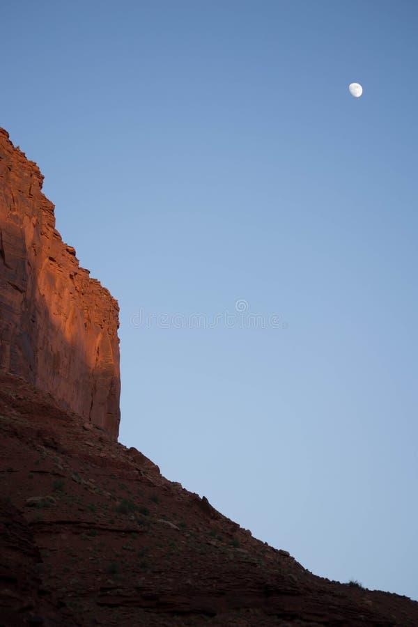 Moon Rising at Arches National Park, Moab Utah royalty free stock photos