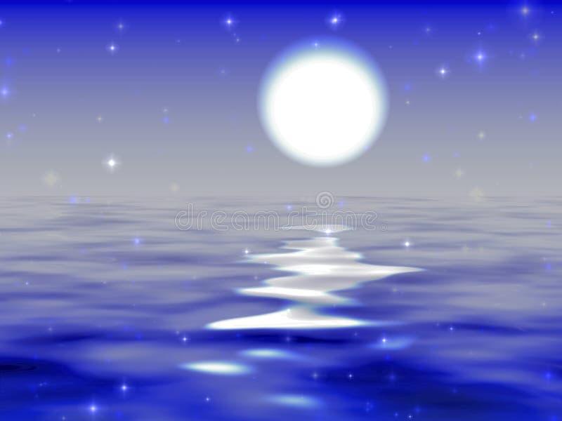 Moon road royalty free illustration