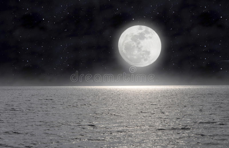 Download The moon on the sea stock image. Image of constellation - 19936893