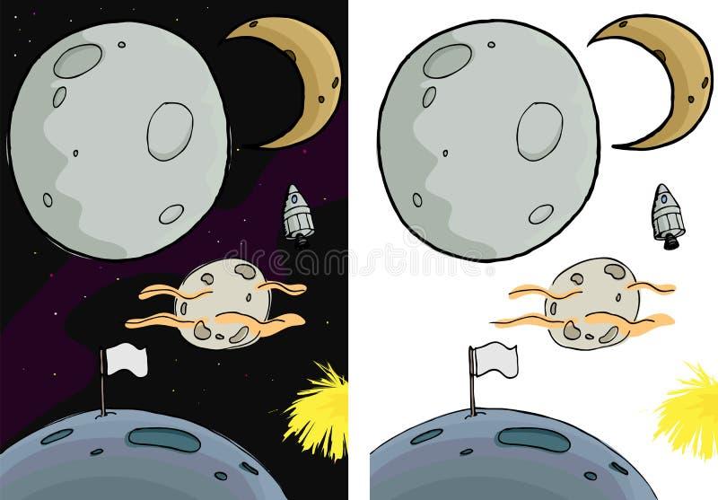 Moon Set I stock illustration
