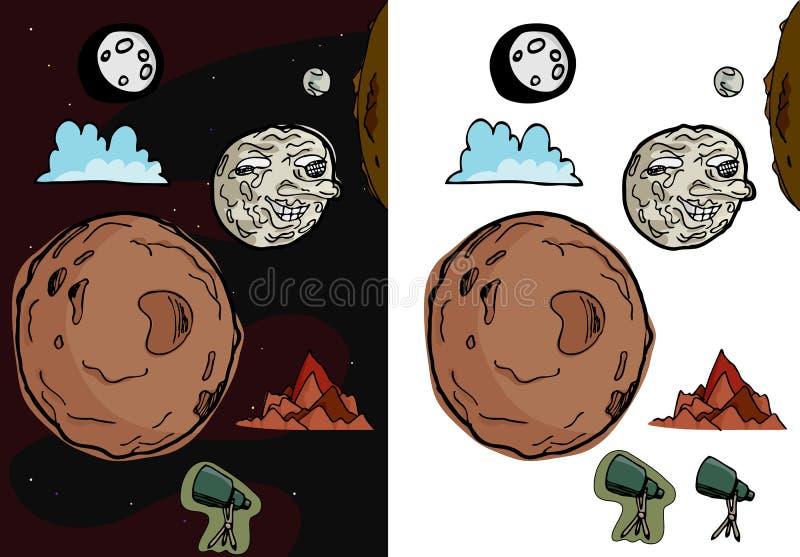 Moon Set II stock illustration