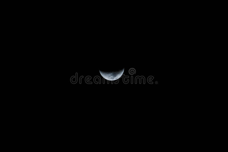 Moon show halt in cool midnight royalty free stock photos
