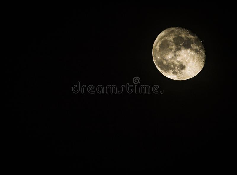 The moon in the sky stock photos