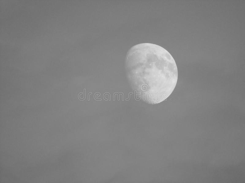 Moon in the sky stock images
