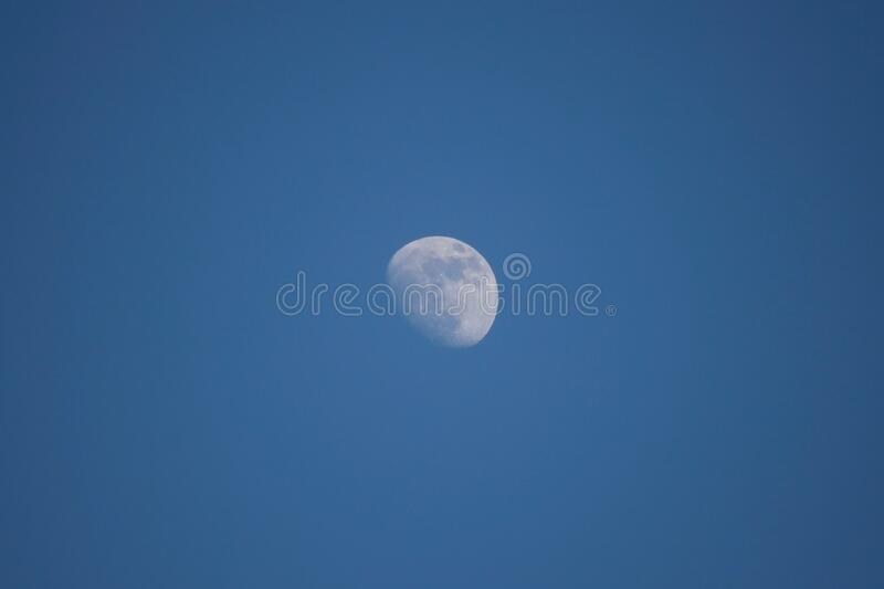 Moon in sky stock image