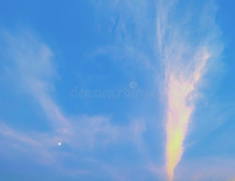 Moon in the sky. stock photography