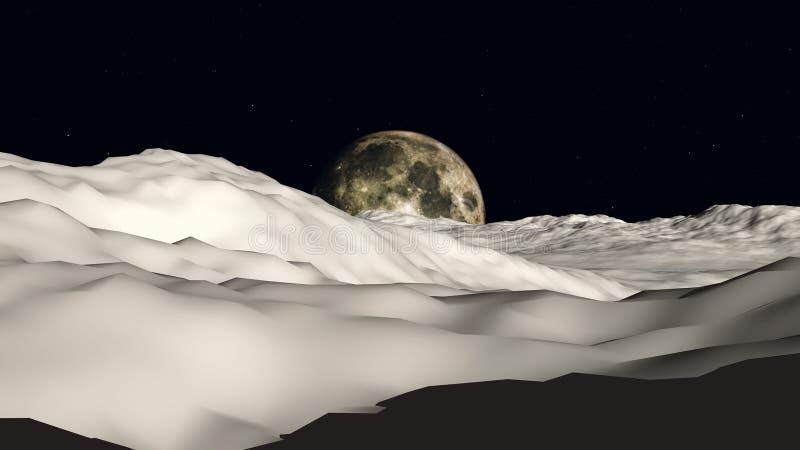 Moon Som Ska Visas Royaltyfria Bilder