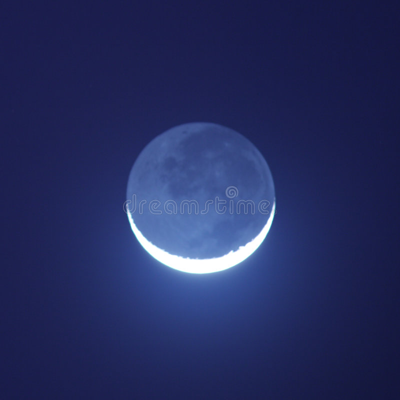 moon som skiner arkivbilder