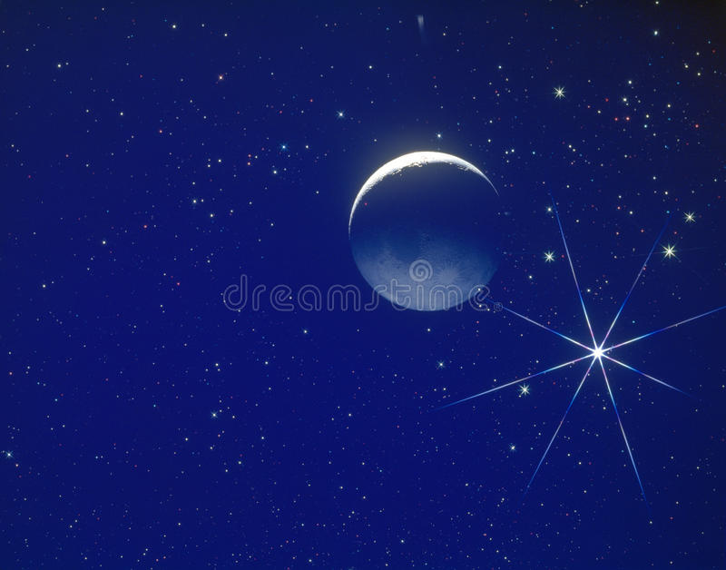 Moon in Space stock photos