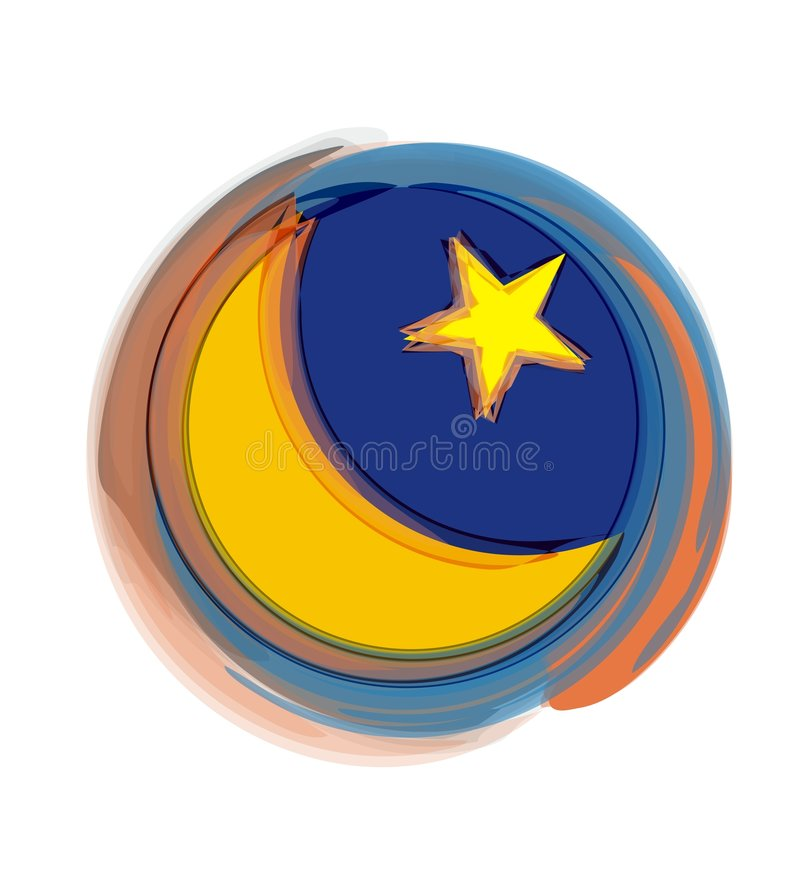 Moon and Star stock illustration