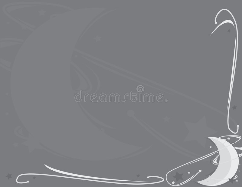 Moon and star background 2. Moon and star gray and blue background with space for copy royalty free illustration