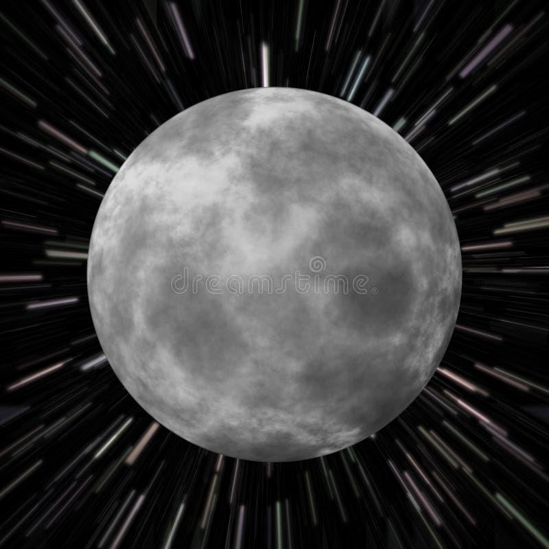 Moon Star Field royalty free illustration