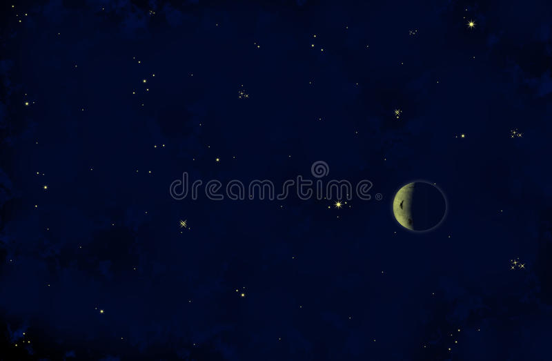 Download Moon And Stars Stock Photo - Image: 21350570