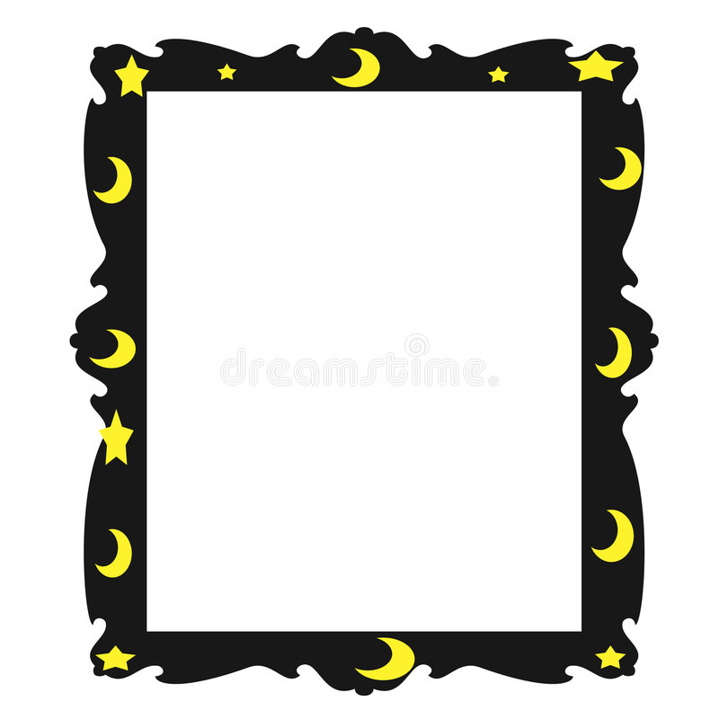 Download Moon and Stars stock illustration. Image of design, photo - 4696471