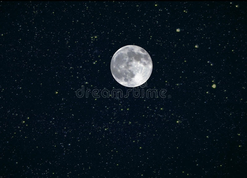 Moon Stars Composite stock images