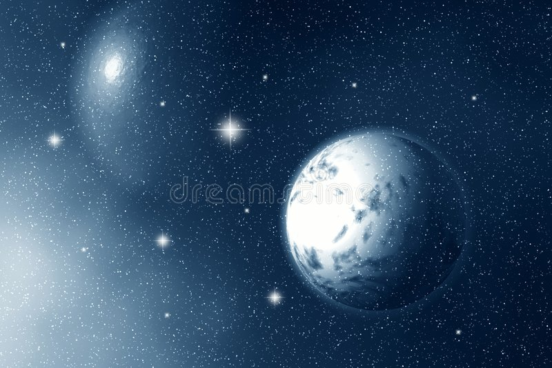 Download Moon And Stars At Night Stock Photos - Image: 3175403