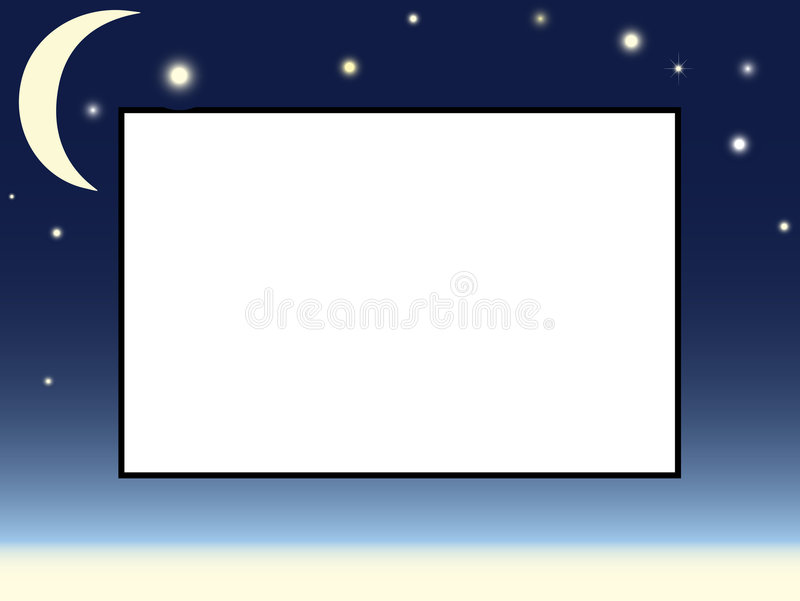 Download Moon And Stars Picture Frame Stock Vector - Image: 7721154