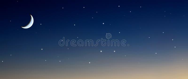 Moon stars sky royalty free stock photography