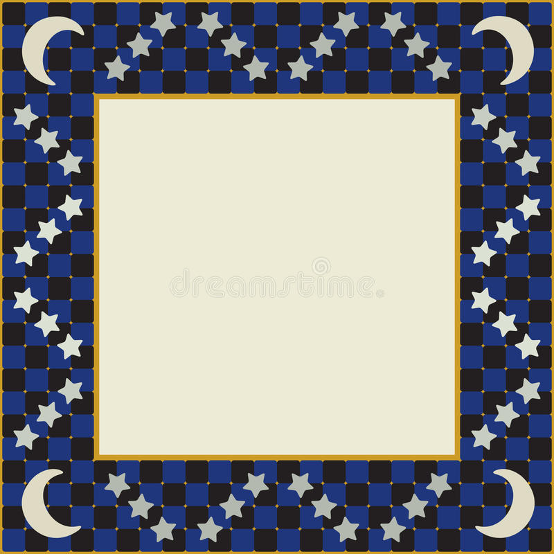 Download Moon And Stars Square Frame Stock Vector - Image: 34277287