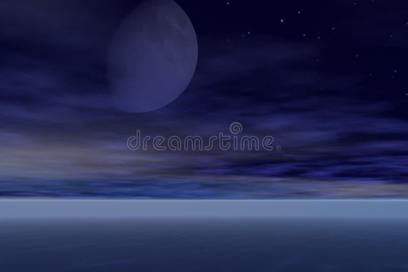 moon stigning royaltyfria foton