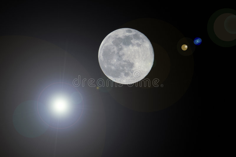 Download Moon and sun stock image. Image of explore, isolated, dark - 8092365
