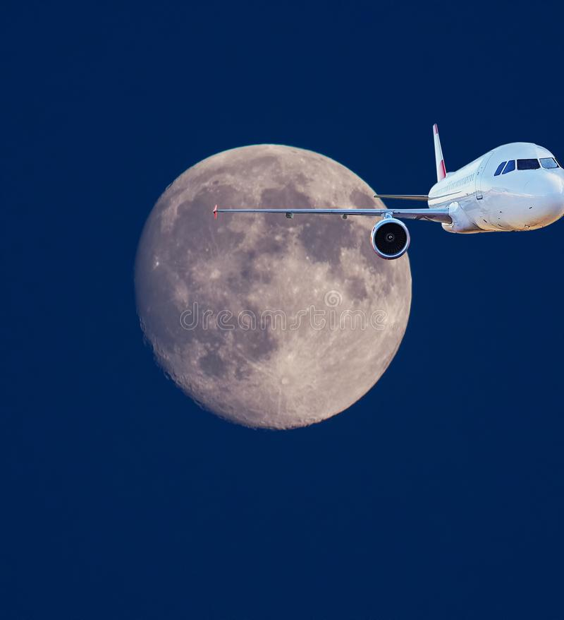Moon travel concept royalty free stock image