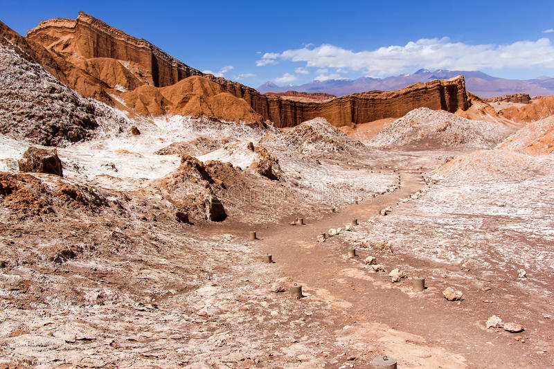 The Moon Valley in Chile stock photography