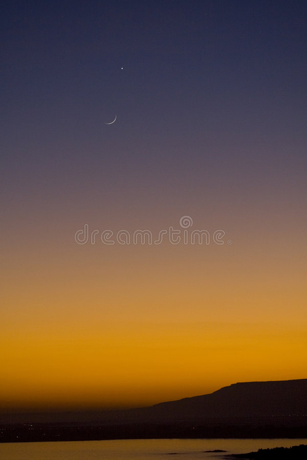 Download Moon and Venus stock image. Image of gradient, moon, star - 1937899