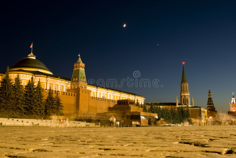 Moon Venus and star above... royalty free stock photography