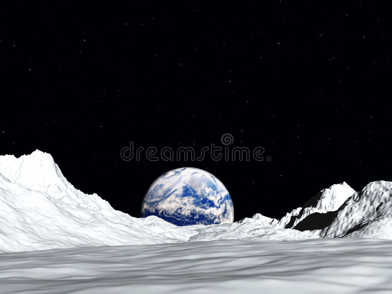 Moon View 2 Royalty Free Stock Images
