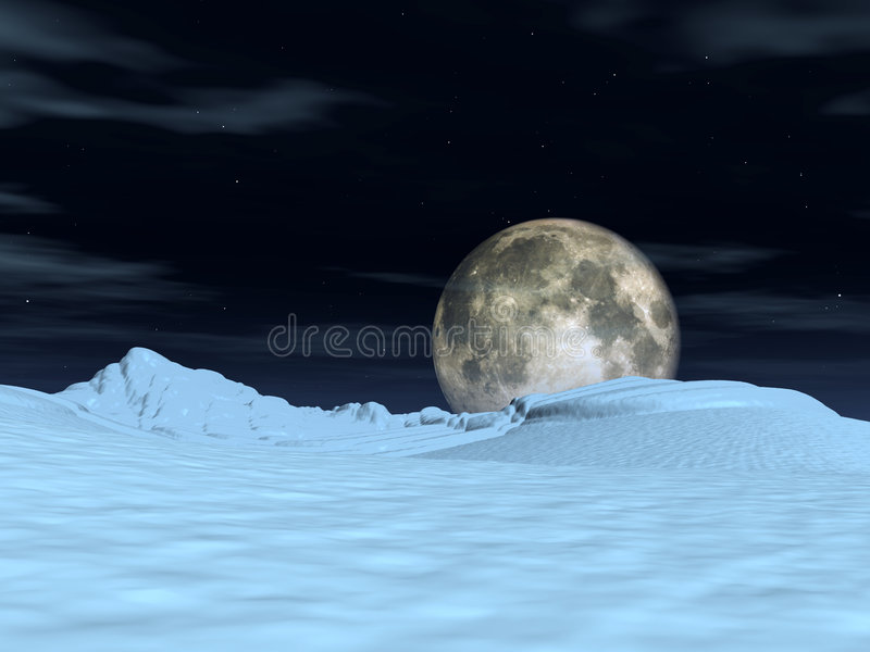 Download Moon View 5 stock illustration. Image of illuminated, space - 1621892