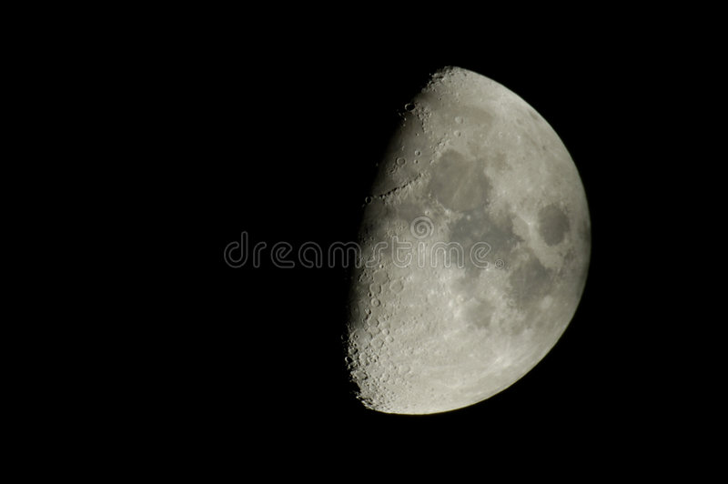 Moon view. Photo of moon took with a Nikon D70 connected to a 500mm reflector telescope royalty free stock photo