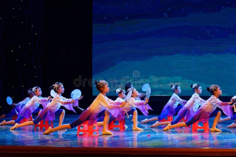 The moon is whispering- Beijing Dance Academy grading test outstanding children`s dance teaching achievement exhibition Jiangxi. Sponsored by the Beijing Dance stock photography