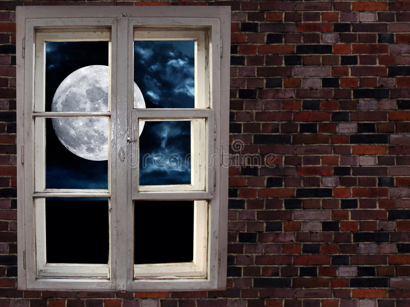 Download Moon In The Window Royalty Free Stock Photo - Image: 14386405