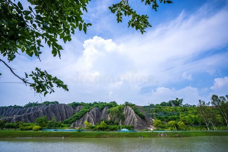 The Moon Worlds Recreation Park at Kaohsiung stock photo