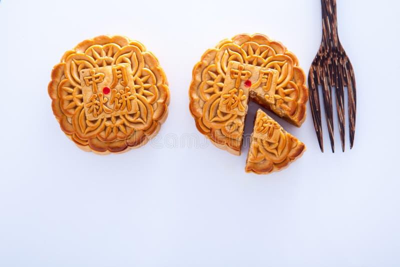 Mooncake για το φεστιβάλ μέσος-φθινοπώρου στοκ φωτογραφία