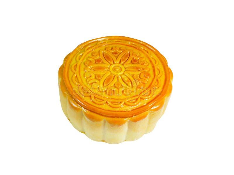 Mooncake дуриана для фестиваля Средний-осени изолированный на белом ба стоковые фото